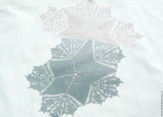 Текстиль, ковры ручной работы. Ярмарка Мастеров - ручная работа. Купить Салфетка Из пены морской - Звезда - 20 см, крючком. Handmade.