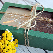 Косметика ручной работы. Ярмарка Мастеров - ручная работа Подарочный набор натурального мыла с нуля. Handmade.