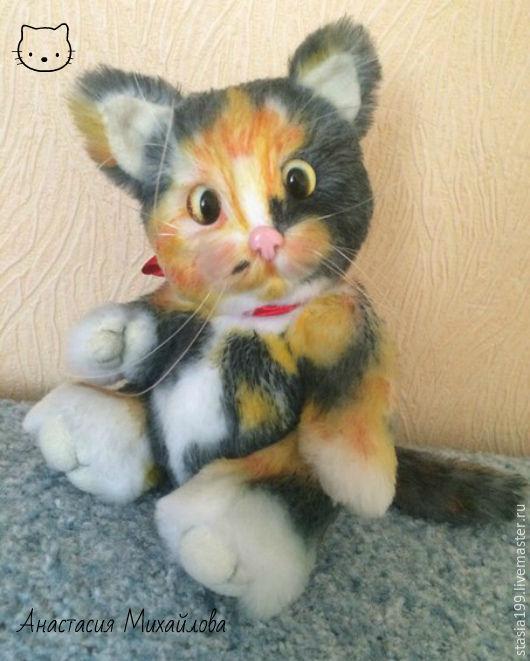 Мишки Тедди ручной работы. Ярмарка Мастеров - ручная работа. Купить Кошечка Боня. Handmade. Комбинированный, стеклянные глазки