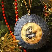 """Подарки к праздникам ручной работы. Ярмарка Мастеров - ручная работа Набор елочных украшений """"Мой первый Новый год"""". Handmade."""