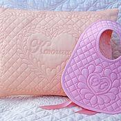 Для дома и интерьера handmade. Livemaster - original item Pillowcase and bib for baby. Handmade.