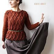 Одежда handmade. Livemaster - original item Women`s knitted jumper Cinnamon. Handmade.