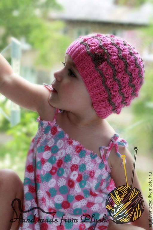 Обучающие материалы ручной работы. Ярмарка Мастеров - ручная работа. Купить МК-описание шапочки спицами Геральдика. Handmade. Розовый