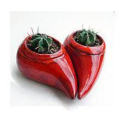 """Цветы и флористика ручной работы. Ярмарка Мастеров - ручная работа Горшок-кашпо для кактусов """"One"""". Handmade."""