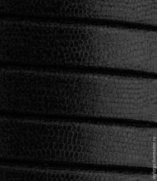 Для украшений ручной работы. Ярмарка Мастеров - ручная работа. Купить Кожаный шнур РЕГАЛИЗ, 10x6 мм, черный, рифленый. Handmade.
