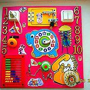 Куклы и игрушки ручной работы. Ярмарка Мастеров - ручная работа Бизиборд - Розовый слоник. Handmade.