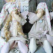 """Куклы и игрушки ручной работы. Ярмарка Мастеров - ручная работа Сонные ангелочки в стиле тильда """" Нежное утро"""". Handmade."""