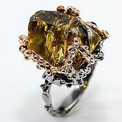 Украшения handmade. Livemaster - original item Ring with smoky quartz and rhodolite. Handmade.