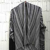 Одежда ручной работы. Ярмарка Мастеров - ручная работа КН_027 Кардиган-трансформер «Черно-белый каньон». Handmade.