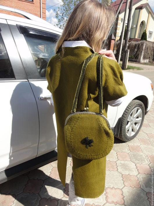 Женские сумки ручной работы. Ярмарка Мастеров - ручная работа. Купить Сумка Оливка. Handmade. Оливковый, сумка на каждый день