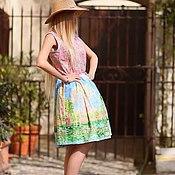 Одежда ручной работы. Ярмарка Мастеров - ручная работа Платье Monet Хлопок 100%. Handmade.