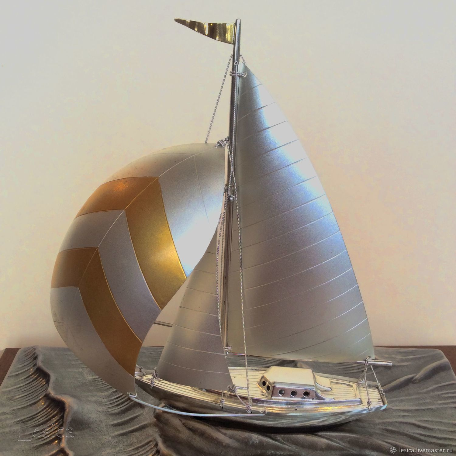 Rare! Boat sailboat silver 985 Takehiko Japan – shop online on Livemaster  with shipping