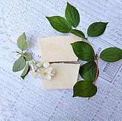 """Косметика ручной работы. Ярмарка Мастеров - ручная работа """"Жасмин белый"""",  шелковое мыло с нуля. Handmade."""
