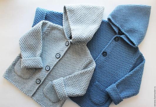 Одежда для мальчиков, ручной работы. Ярмарка Мастеров - ручная работа. Купить Кофта с капюшоном для мальчика. Handmade. Синий, одежда для детей