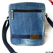 Сумки и аксессуары handmade. Livemaster - original item Denim bag tablet casual sports universal. Handmade.