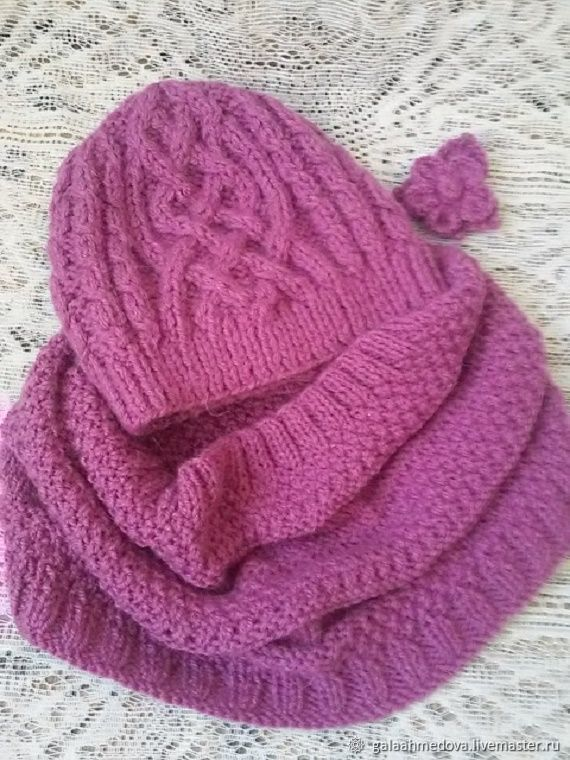 accessories kit-hat and Snood 'For You' handmade, Headwear Sets, Dmitrov,  Фото №1