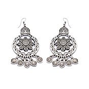 handmade. Livemaster - original item Aibike earrings with pendants. Handmade.
