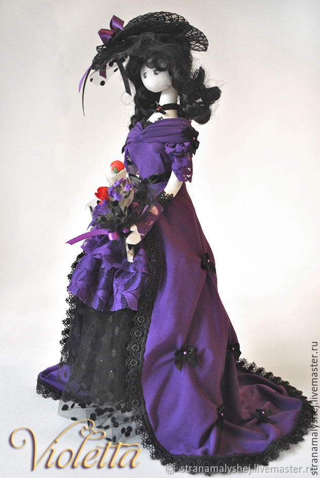 Doll Violetta, interior doll, violet doll, Dolls, St. Petersburg,  Фото №1