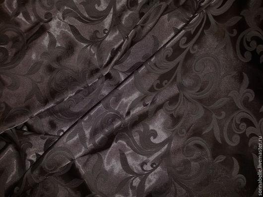 Шитье ручной работы. Ярмарка Мастеров - ручная работа. Купить Ткань для штор Жаккард Веточки Темно-коричневый, венге. Handmade.