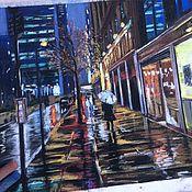 Картины ручной работы. Ярмарка Мастеров - ручная работа «Дождь в Нью-Йорке». Handmade.
