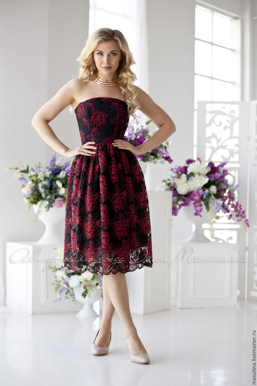 Платье из кружева на выпускной бал