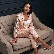 Одежда handmade. Livemaster - original item Pink silk three-piece suit. Handmade.