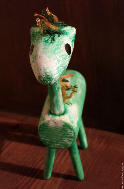 Статуэтки ручной работы. Ярмарка Мастеров - ручная работа. Купить Бочка-Лошадка. Деревянная лошадь. Handmade. Тёмно-зелёный, Декор