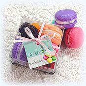 Косметика ручной работы. Ярмарка Мастеров - ручная работа Макаруны с ягодами французские печенки набор мыла. Handmade.