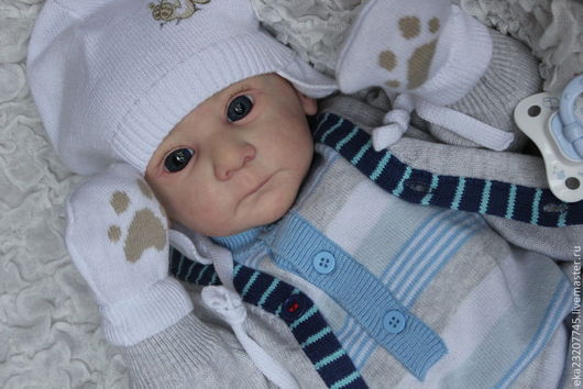 Куклы-младенцы и reborn ручной работы. Ярмарка Мастеров - ручная работа. Купить Малыш Мотя (молд Матис). Handmade. Бежевый
