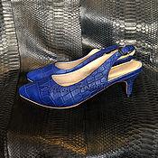 Обувь ручной работы handmade. Livemaster - original item Shoes crocodile leather ASTRE. Handmade.