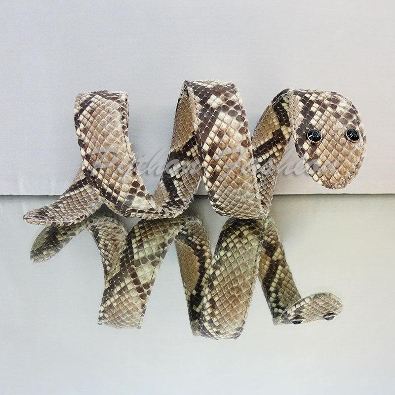 Bracelet in Python. Original bracelet from Python custom. Betonowy fashionable handmade bracelet. Author's bracelet made of Python. Stylish designer bracelet from Python. Beautiful women's bracelet.