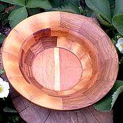Посуда ручной работы. Ярмарка Мастеров - ручная работа Тарелка деревянная. Handmade.