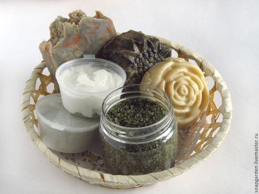 Набор натурального мыла, подарочный набор мыла, набор мыла для бани, мыло садовое, мыло на травах, мыло с эфирными маслами, мыло кастильское, маска сухая для лица, маска с глиной