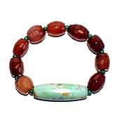 Украшения handmade. Livemaster - original item Bracelet made of natural stones: amazonite, malachite, sardonyx. Handmade.
