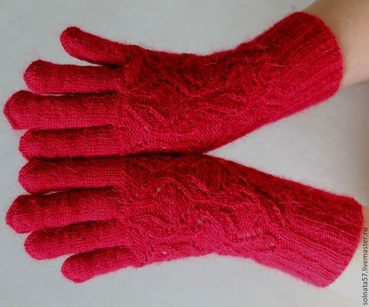 """Варежки, митенки, перчатки ручной работы. Ярмарка Мастеров - ручная работа. Купить Перчатки """"Изабелла"""". Handmade. Бордовый, перчатки ажурные"""