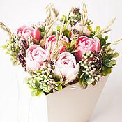 Косметика ручной работы handmade. Livemaster - original item Bouquet of soap pink tulips with oregano Provence. Handmade.