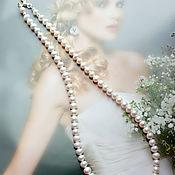 Украшения handmade. Livemaster - original item Beads, natural white pearl Classic. Handmade.