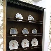 Для дома и интерьера ручной работы. Ярмарка Мастеров - ручная работа Полка для тарелок Полки для декоративных тарелок и фарфора. Handmade.