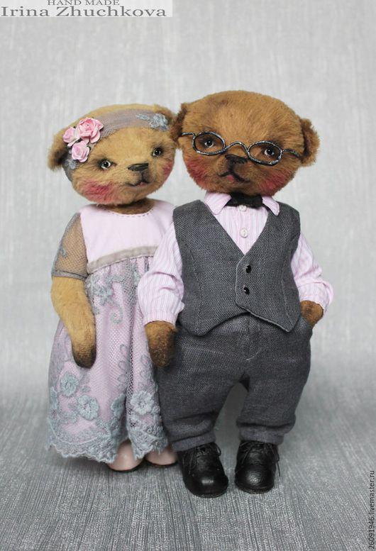 """Мишки Тедди ручной работы. Ярмарка Мастеров - ручная работа. Купить """"Люся"""" и """"Тимоша"""". Handmade. Бежевый, мишка девочка, хлопок"""