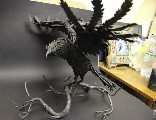 """Игрушки животные, ручной работы. Ярмарка Мастеров - ручная работа. Купить фигурка полметра """"Ворон"""" (статуэтка чёрного ворона, фигурка ворона). Handmade."""