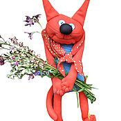Мягкие игрушки ручной работы. Ярмарка Мастеров - ручная работа Кот с цветами. Handmade.