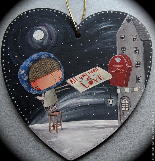 Фантазийные сюжеты ручной работы. Ярмарка Мастеров - ручная работа. Купить All you need is love. Handmade. Картина