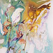 Картины и панно ручной работы. Ярмарка Мастеров - ручная работа Ирис. Гармония в весне. Handmade.