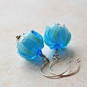 Украшения handmade. Livemaster - original item Earrings with lampwork charm. Handmade.