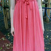 Одежда ручной работы. Ярмарка Мастеров - ручная работа Коралловое платье шифон в пол Распродажа в наличии. Handmade.
