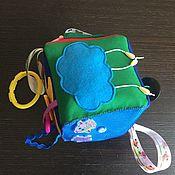 Искалки ручной работы. Ярмарка Мастеров - ручная работа Искалки: мягкий развивающий кубик для малыша 0+. Handmade.