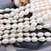 Материалы для творчества handmade. Livemaster - original item 10 PCs. Natural pearl rice 7-7,5. 4327 mm (thickness) AA (). Handmade.