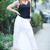 Одежда handmade. Livemaster - original item White pants-skirt. Handmade.