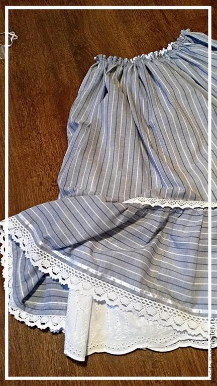 Юбки ручной работы. Ярмарка Мастеров - ручная работа. Купить Юбочка для Александры. Handmade. Голубой, прованс, одежда