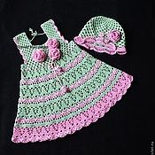 Работы для детей, handmade. Livemaster - original item sleeveless Roses dress for girls. Handmade.